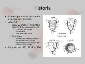 Copa menstrual antigua